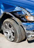 Wrecked Car. Vertical — Stock Photo
