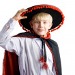 Stock Photo: Young boy in mexichat