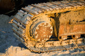 Caterpillar track — Stockfoto