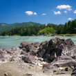 Katun river and mountains — Stock Photo