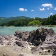 Katun river and mountains - Stock Photo