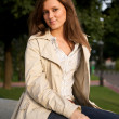 Beautiful young woman in the park — Stock Photo #1913513