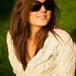 Young pretty smile girl in sunglasses — Stock Photo #1913514