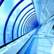 Glass corridor in modern business centre — Stock Photo