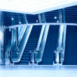 Escalators in modern business center — Stock Photo