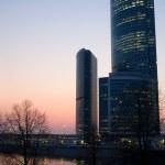 Modern skyscrapers business centre at su — Stock Photo #1996774