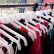 Clothes rack — Stockfoto