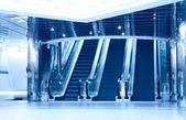 Escalators in modern business center — Stock Photo