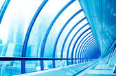 Glass corridor in modern business centre — Stock Photo