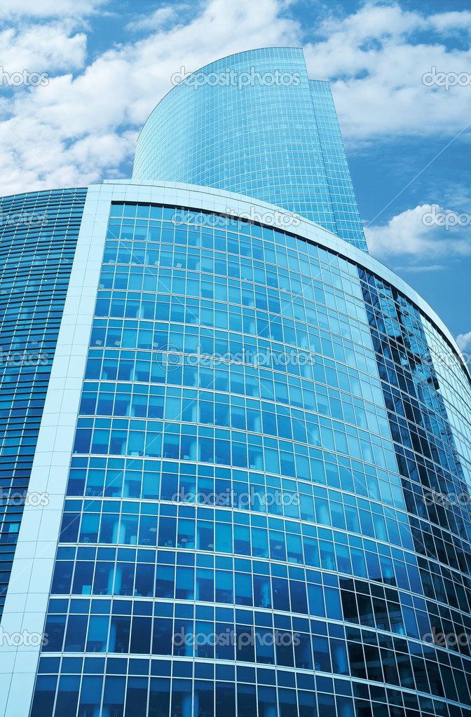 Modern skyscrapers business centre in Moscow, Russia. Tint Blue — Stock Photo #1997886