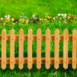 Wooden garden fence — Stock Photo #2002339
