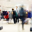 Stock Photo: shoppers at shopping center