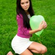 Beautiful girl holding balloon — Stock Photo #2002629