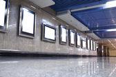 Empty white canvas frames — Stock Photo