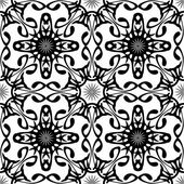 Black-white abstract seamless pattern — Stock Vector