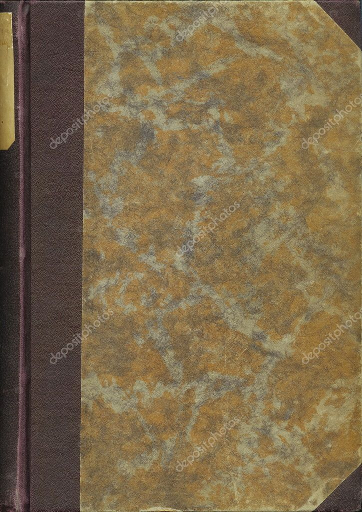Book Back Cover Background ~ Old book cover vintage background — stock photo