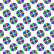 Abstract seamless pattern with disks — Stock Photo
