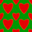 Stock Photo: Abstract pattern with hearts