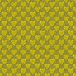 Abstract seamless pattern, golden hearts — Foto Stock