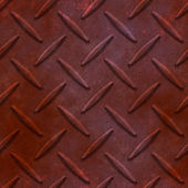 Rust diamond plate seamless texture — Stock Photo