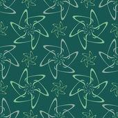 Abstrakta sömlösa blommönster — Stockvektor