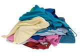 Pile of dirty clothes for the laundry — Stock Photo