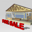 Stock Photo: 3d house