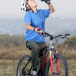 Active biking senior — Stock Photo