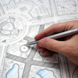 Plan drawings — Stock Photo