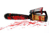 Bloody chainsaw — Stock Photo