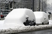Car under the snow — Stock Photo