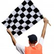 Race flag — Stock Photo