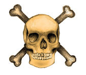 Skull and crossbones — Stock Photo