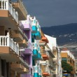 Colored houses in Tenerife — Stock Photo
