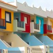 Colored houses in Tenerife - Stock Photo