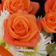 Orange rose bouquet — Stock Photo