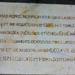 Latin inscription — Stockfoto