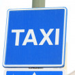 Royalty-Free Stock Photo: Blue taxi sign