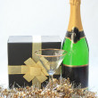 Champagne gift — Stock Photo