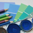 Collection of color samples — Stock Photo