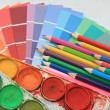 Stock Photo: Collection of color samples,
