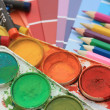 Collection of color samples, — Stock Photo