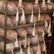 Stock Photo: Fresh made ham in cold cut factory