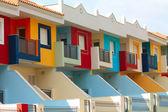 цветные дома в тенерифе — Стоковое фото