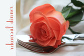 Orane rose card - print and post - rehearsal din — Stock Photo