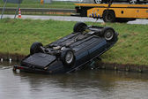 Car in water after an accident — Stockfoto