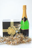 Champagne gift — Stock Photo
