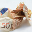 Trashy 50 euro banknote — Stock Photo