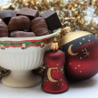 Christmas chocolates - 图库照片