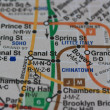 New York subway map — Stock fotografie #1706017